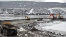 """Construction of the Site C dam is well under way and Premier Christy Clark has vowed to get it """"to the point of no return"""" before the provincial election in May, 2017. (BC HYDRO)"""