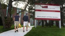 Students are pictured on the St. John's campus of Memorial University in September, 2013. (Paul Daly for The Globe and Mail)