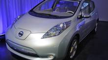 The Nissan Leaf. (Frank Franklin II/AP)