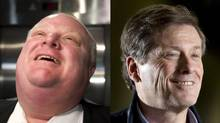 On May 28, 2014, Rob Ford and John Tory turn 45 and 60, respectively. (PETER POWER/THE GLOBE AND MAIL)