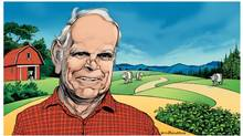 Harold Steves. (ILLUSTRATION BY DAVID PARKINS FOR THE GLOBE AND MAIL)