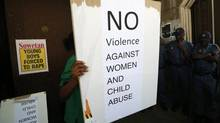A sign outside the Pretoria Magistrates court during the bail application of Oscar Pistorius. (MIKE HUTCHINGS/REUTERS)