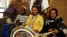 Salem Kassahun, owner of Salem's Ethiopia along with some of her basket makers (Salem's Ethiopia)