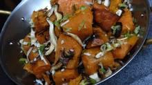 Sweet potatoes and shitake mushrooms. (Deborah Baic/Deborah Baic/The Globe and Mail)