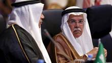 Saudi Arabia's Oil Minister Ali al-Naimi (R) attend a ministerial conference in Riyadh November 4, 2015. (FAISAL AL NASSER/REUTERS)
