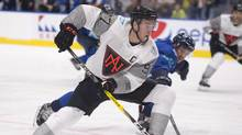 Team North America's Connor McDavid skates to the net as Team Europe's Roman Josi defends during first period of a pre-tournament game at the World Cup of Hockey, Thursday, September 8, 2016 in Quebec City. (Jacques Boissinot/THE CANADIAN PRESS)