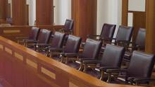 A jury box. (Christopher S. Reed/iStockphoto)
