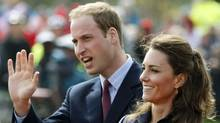 This Monday April 11, 2011 file photo shows Britain's Prince William accompanied by his fiancee Kate Middleton, as they arrive at Witton Country Park, Darwen, England. (Tim Hales / AP Photo/Tim Hales / AP Photo)