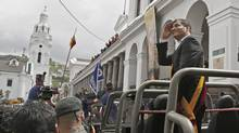 Ecuadorean President Rafael Correa is said to be willing to take on the U.S. because it makes his country a 'centre of attention.' (AFP/AFP/Getty Images)