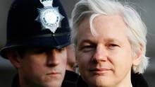 Julian Assange, the 40-year-old WikiLeaks founder, arrives at the Supreme Court in London, Wednesday, Feb. 1, 2012. Assange's legal team is making a final effort at Britain's Supreme Court to avoid his extradition to Sweden. Assange is wanted by Swedish authorities over sex crimes allegations stemming from a visit to the country in 2010. He denies any wrongdoing. (Kirsty Wigglesworth/AP)