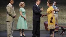 From left, Cory O'Brien as Dwight McKay, Blythe Wilson as Claribel Anderson, Alan Thicke as Jack Bailey, Lisa Horner as Birdie McBride, Jay Davis as Ned Anderson. (Michael Cooper)