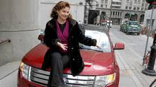 Actress Linda Kash and her Ford Edge. (Fernando Morales/Fernando Morales/The Globe and Mail)