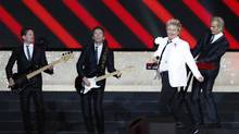 Singer Rod Stewart performs during the opening ceremony for the Commonwealth Games 2014 in Glasgow, Scotland, Wednesday July 23, 2014. (Frank Augstein/AP)