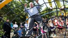 Toronto Mayor Rob Ford is seen during a ribbon-cutting ceremony celebrating the refurbishment of Brookdale Park in Toronto on Wednesday, July 30, 2014. (Darren Calabrese for The Globe and Mail)