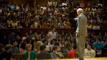 Michael Sandel's renowned Justice lectures are now available as an online course. (Justin Ide/Harvard University News Office)