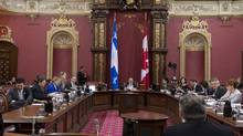 The legislative committee examining the proposed Charter of Quebec Values sits at the National Assembly in Quebec City on Jan. 15, 2014. (JACQUES BOISSINOT/THE CANADIAN PRESS)