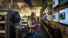 Penny Peete shops at Best Buy in Tonawanda, N.Y., at around three o'clock in the morning during Black Friday. (JENNIFER ROBERTS FOR THE GLOBE AND MAIL)