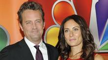 Go On co-stars Matthew Perry and Laura Benanti arrive for the NBC network presentation at Radio City Music Hall Monday, May 14, 2012, in New York. (Evan Agostini/Evan Agostini / AP)