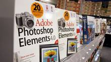 Adobe Systems Inc. Photoshop Elements on display at a Best Buy store in Mountain View, Calif. (PAUL SAKUMA)