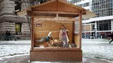A nativity scene outside of Old City Hall in Toronto: Not exactly as pictured? (Charla Jones/The Globe and Mail)