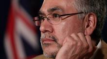 Former Northwest Territories Premier Floyd Roland listens to a question during a news conference in this 2010 file photo. (THE CANADIAN PRESS / Darryl Dyck/THE CANADIAN PRESS / Darryl Dyck)