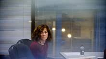 Christina Papadopoulos, a member of the College of Psychologists of Ontario, awaits a panel's decision after pleading guilty to professional misconduct at a hearing, Tuesday October 30, 2012. (Galit Rodan for The Globe and Mail)