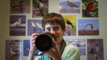 Liron Gertsman, 13, who has a strong interest in photography and birds, will starting Grade 8 on Sept. 3, 2013, at Point Grey Mini in Vancouver, an academically enriched school. (JOHN LEHMANN/THE GLOBE AND MAIL)