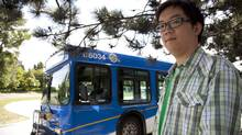 Bowen Tang's commute to the UBC campus from Burnaby takes about one hour. (JONATHAN HAYWARD/JONATHAN HAYWARD/THE CANADIAN PRESS)