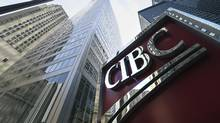 The large sign outside the CIBC head office in Toronto in this file photo. (Fred Lum/Fred Lum/The Globe and Mail)