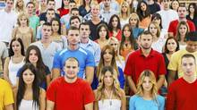 Large group of students. (iStockphoto)