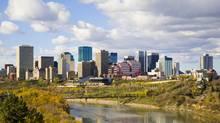 The skyline of Edmonton, Alberta