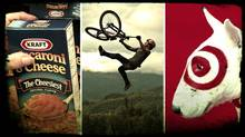 Composite image featuring Kraft, Red Bull and Target brands