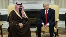 President Donald Trump's meeting with Saudi Defense Minister and Deputy Crown Prince Mohammed bin Salman bin Abdulaziz Al Saud is the first step in renewing relations between the two countries. (Evan Vucci/AP)