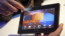 Research In Motion Ltd.'s Playbook tablet. (Ramin Talaie/Bloomberg/Bloomberg)