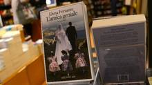 Books by Elena Ferrante are displayed in a bookstore in Rome on Oct. 4, 2016. (GABRIEL BOUYS/AFP/Getty Images)