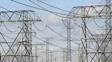 File photo of hydro towers and power lines. (Fred Lum/Fred Lum/The Globe and Mail)