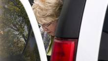 """Melissa Ann Shepard arrives at Supreme Court in Sydney, N.S., for her sentencing hearing on Tuesday, June 11, 2013. Two men preyed upon by an elderly woman known as the """"Internet Black Widow"""" say they fear for public safety as a Nova Scotia prison prepares to release her onto the street. (Andrew Vaughan/THE CANADIAN PRESS)"""