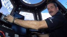Canadian astronaut Chris Hadfield poses for a photo in this undated handout photo. For the first time in the history of the International Space Station, a Canadian took charge of the giant orbiting space lab. (Chris Hadfield/THE CANADIAN PRESS)