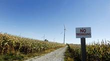 A wind farm in Ontario's Norfolk County. (Peter Power/The Globe and Mail/Peter Power/The Globe and Mail)