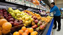 Canada's annual inflation rate cooled more than expected in March, as food prices dropped for the sixth month in a row, Statistics Canada said Friday. (JACQUES BOISSINOT/THE CANADIAN PRESS)