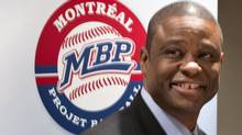 Warren Cromartie, former Montreal Expo and president of Montreal Baseball Projet, updates efforts to bring back major league baseball to Montreal during a news conference Wednesday, March 20, 2013 in Montreal. (Paul Chiasson/THE CANADIAN PRESS)