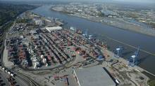The Fraser Surrey Docks, shown here, are under the jurisdiction of Port Metro Vancouver, which will decide whether or not to approve a proposal to expand coal exports to four million tonnes annually. (Handout from Fraser Surrey Docks LP)