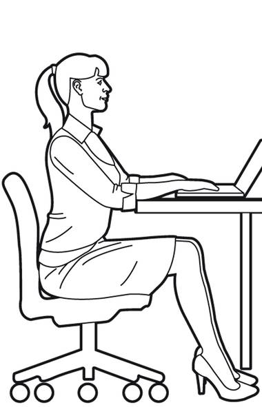 1. Sit tall, with your knees bent and your shoulders over your hips and level from side to side. (Trish McAlaster/The Globe and Mail)