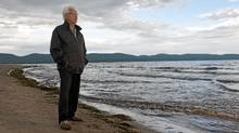 Georges Kavanagh, a unilingual francophone, feels a strong pull to the story of his Irish forebearers. HIs ancestor survived the wreck of The Carricks off Cap-des-Rosiers, Quebec. (Jacques Gratton for the globe and mail/Jacques Gratton for the globe and mail)