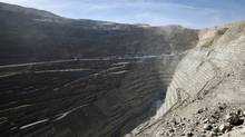 A view of the Chuquicamata open pit copper mine in northern Chile in this April 1, 2011 file picture. (IVAN ALVARADO)