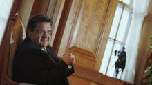 Denis Coderre, mayor of Montreal, poses in his offices in City Hall, January 9, 2014. (Christinne Muschi For The Globe and Mail)