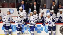 After a 7-2 implosion in Chicago on Monday night, the Leafs are 4-11-2 in their past 17 games, and fading fast. (Jeff Haynes/AP Photo)