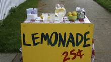 File #: 587169Exclusive iStockphoto Photographer A classic summer lemonade stand. Credit: iStockphoto (Royalty-Free) Keywords: Lemonade Stand, Lemonade, Child, Stand, Summer, Business, Lemon, Currency, Drink, Restaurant, Sugar, Heat (iStock)