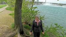 Niagara Parks Commission's Chairwoman Fay Booker walks near the Niagara River just west of the Horseshoe Falls on My 18, 2011. (Glenn Lowson for The Globe and Mail/Glenn Lowson for The Globe and Mail)