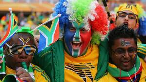 South Africa fans arrive for the Opening Ceremony ahead of the 2010 FIFA World Cup South Africa Group A match between South Africa and Mexico at Soccer City Stadium.